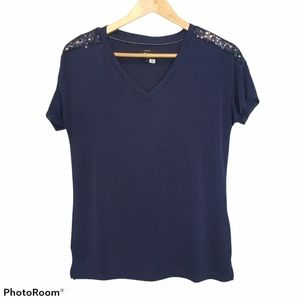 3 for $25 Only Brand Blue top blouse with sequins small